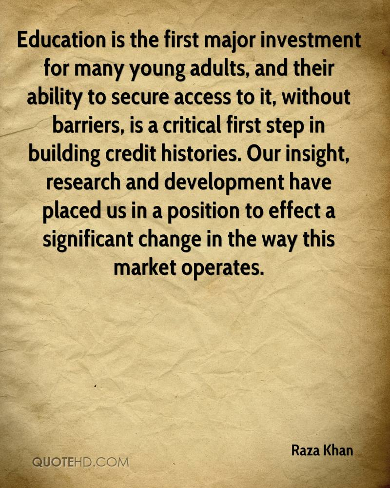 investing youth We must invest in young people to build the right competence and self-esteem  required to face the complex challenges of our time.