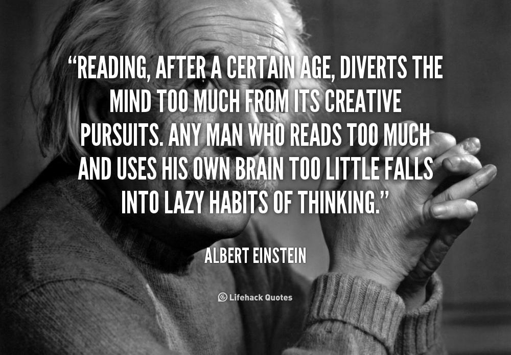 Albert Einstein Reading Quote: Einstein Quotes About Reading. QuotesGram