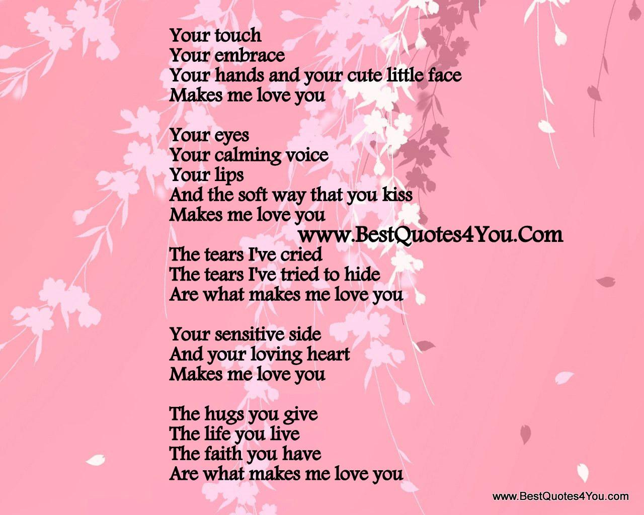Cute love poems for the boyfriend