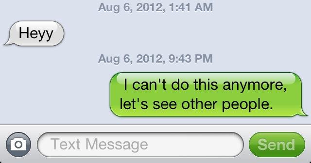 Break Up Text Quotes: Rude Break Up Quotes. QuotesGram