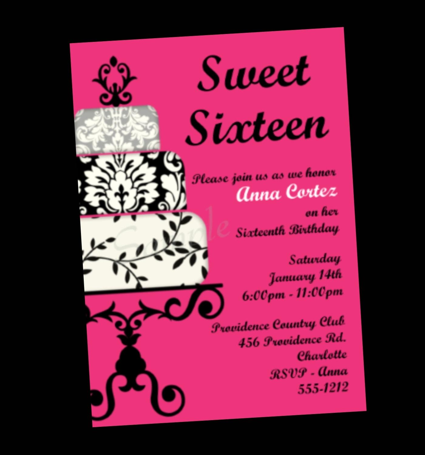 Sweet 16 Invitation Quotes. QuotesGram