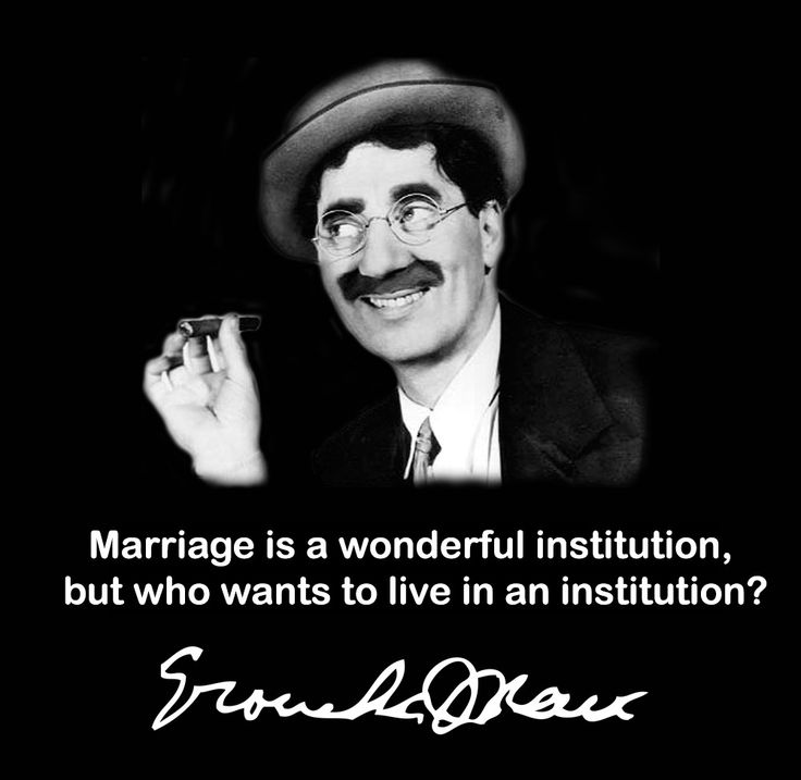 Funny Groucho Marx Quotes: Marriage Quotes Groucho Marx. QuotesGram