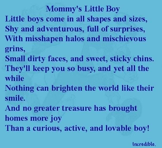 Happy Baby Boy Quotes: Mommys Boy Quotes. QuotesGram