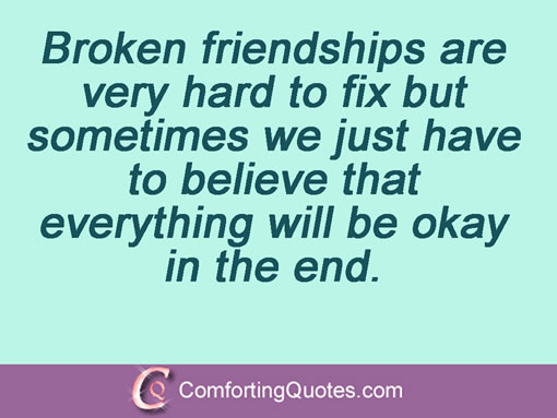 Quotes About Broken Trust In Friendship Quotesgram