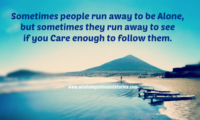 running away alone quotes  quotesgram