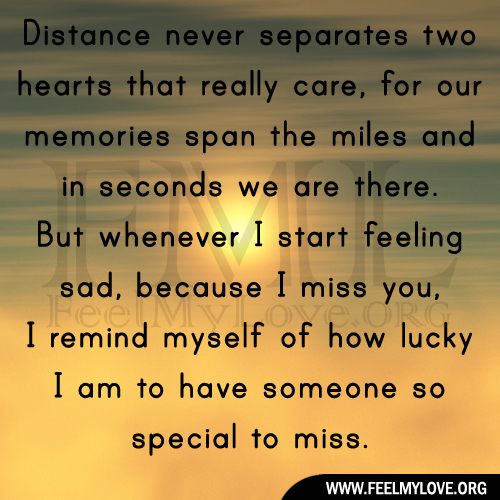 Sad I Miss You Quotes For Friends: Missing Someone Long Distance Quotes. QuotesGram