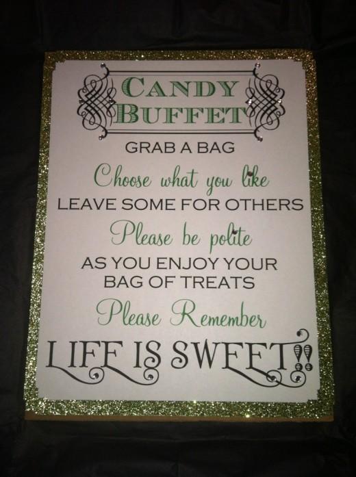 Wedding Candy Buffet Q...