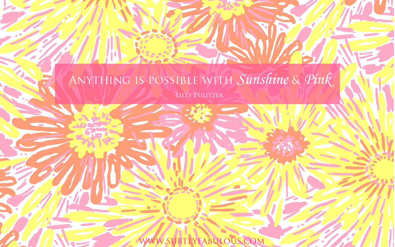 Lilly pulitzer quotes wallpaper quotesgram for Wallpaper for a