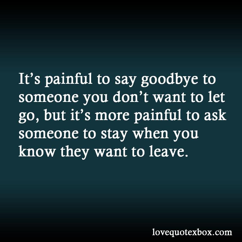 Saying Goodbye To Some...