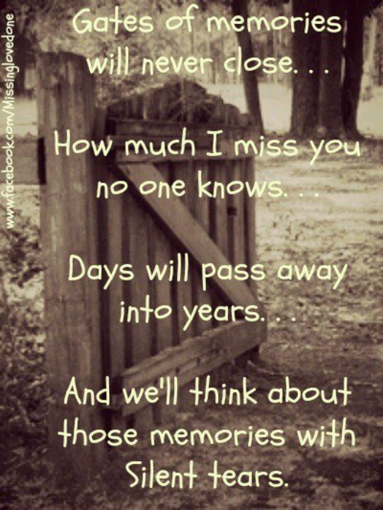 Recalling Old Memories Quotes: Missing Someone After Death Quotes. QuotesGram