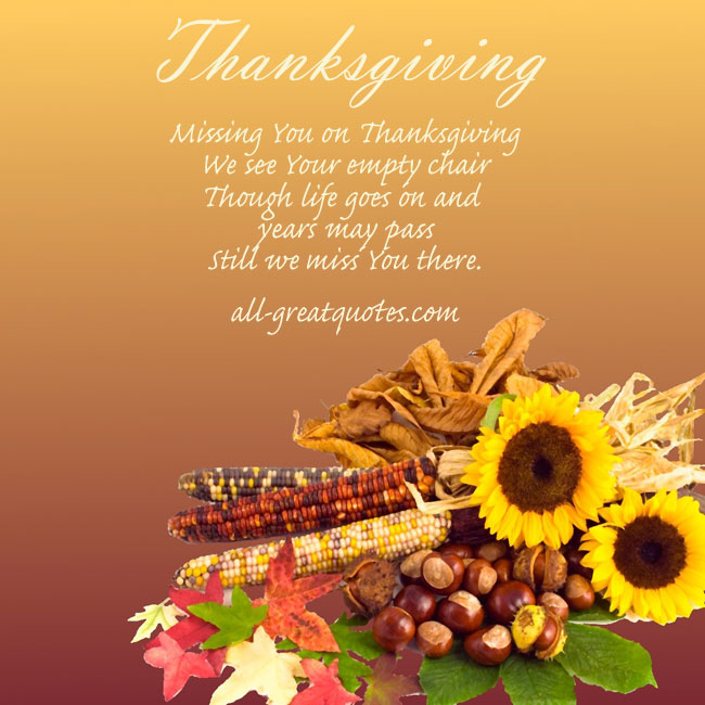 Missing You Quotes On Thanksgiving Quotesgram