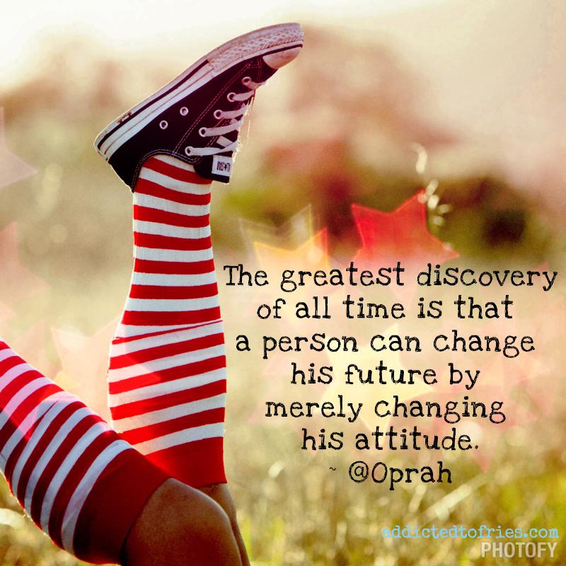 Change Your Attitude Quotes: Oprah Winfrey Quotes On Attitude. QuotesGram