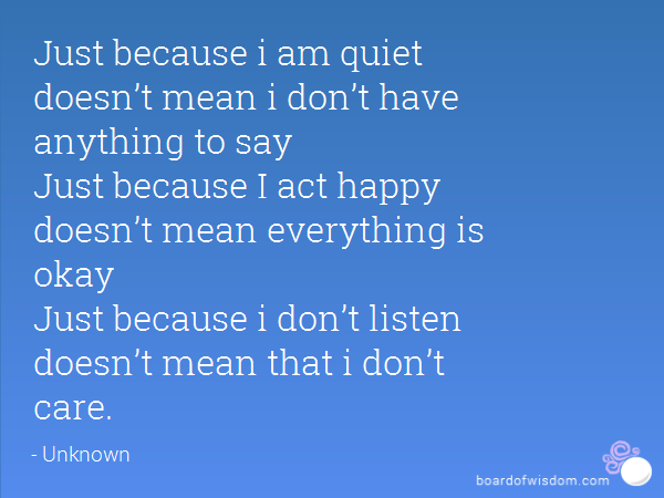 Say Anything Quotes: Just Because I Dont Say Anything Quotes. QuotesGram