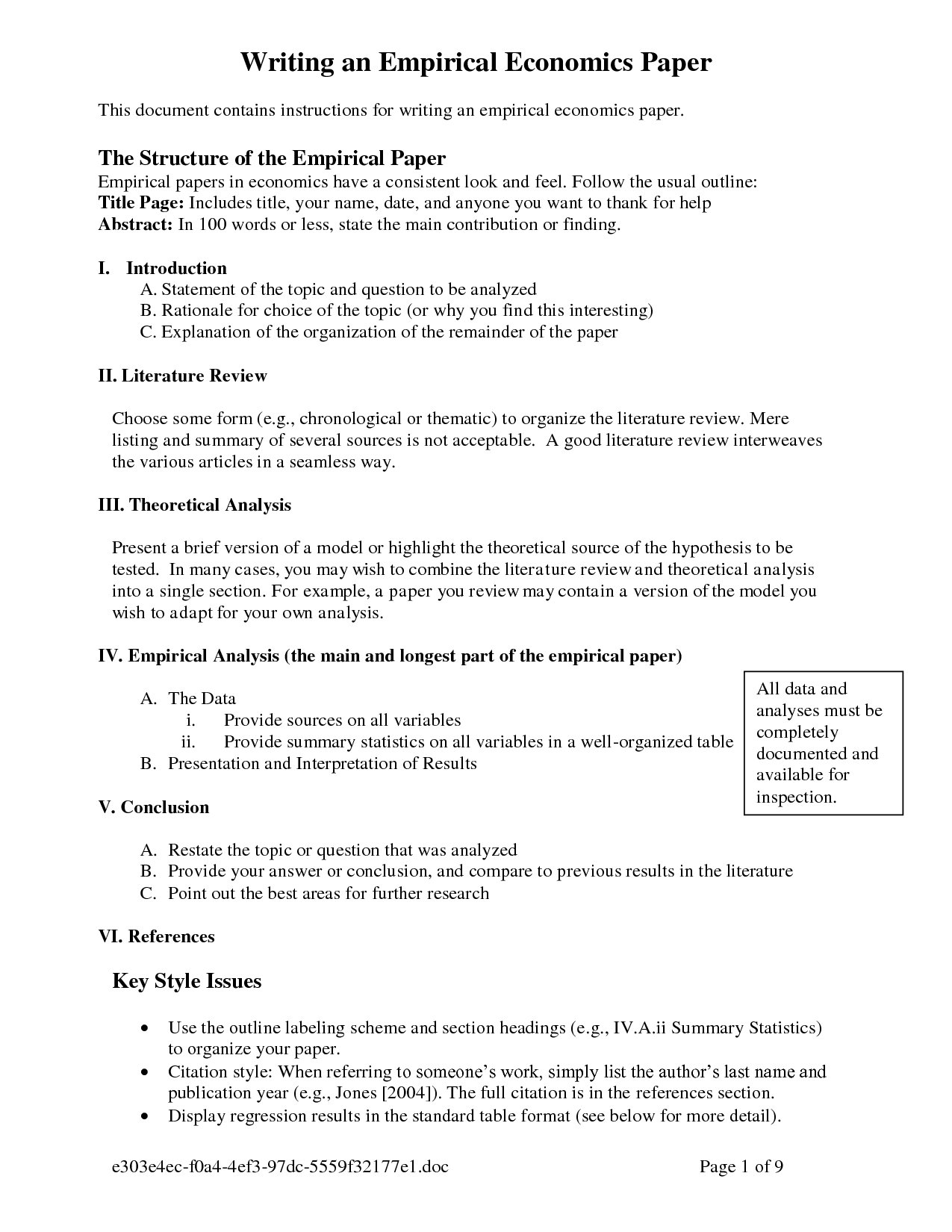 typical sections of a research paper The elements outlined in this page are generally required on all proposals however, not all of the elements are necessary for every proposal and the list is not.