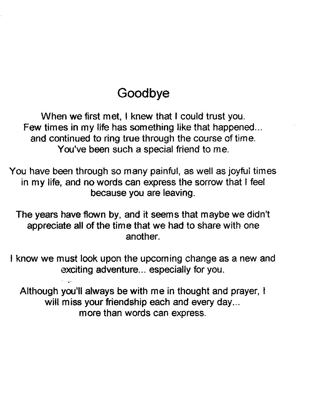 Goodbye Friend Death Quotes. QuotesGram