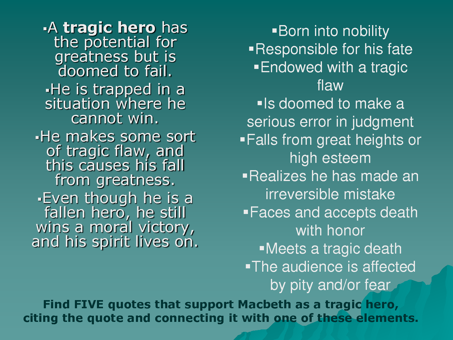 tragic flaws of macbeth essay Free tragic flaws papers, essays, and macbeth as a shakespearean tragic hero - macbeth as a shakespearean tragic hero in this essay i macbeth's tragic flaw in.