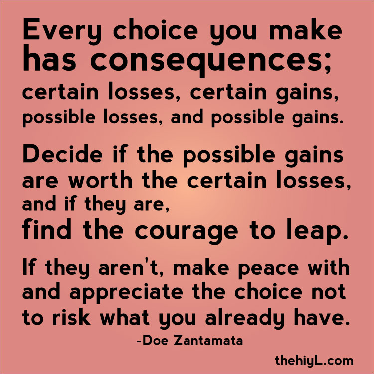 Choices Have Consequences Quotes Quotesgram