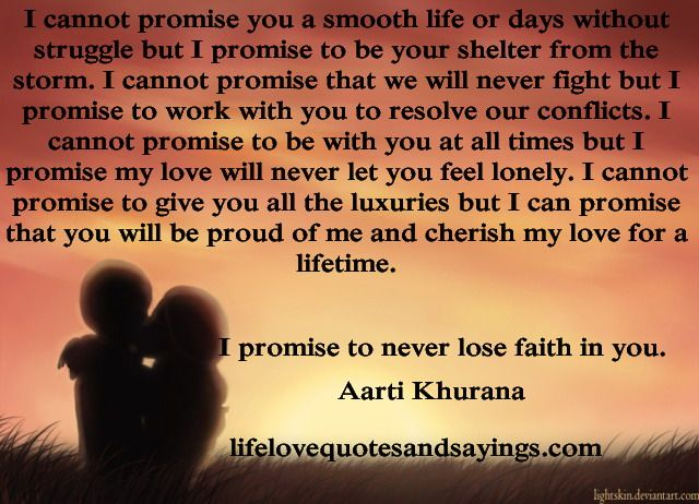 Quotes For Him I Promise Quotesgram