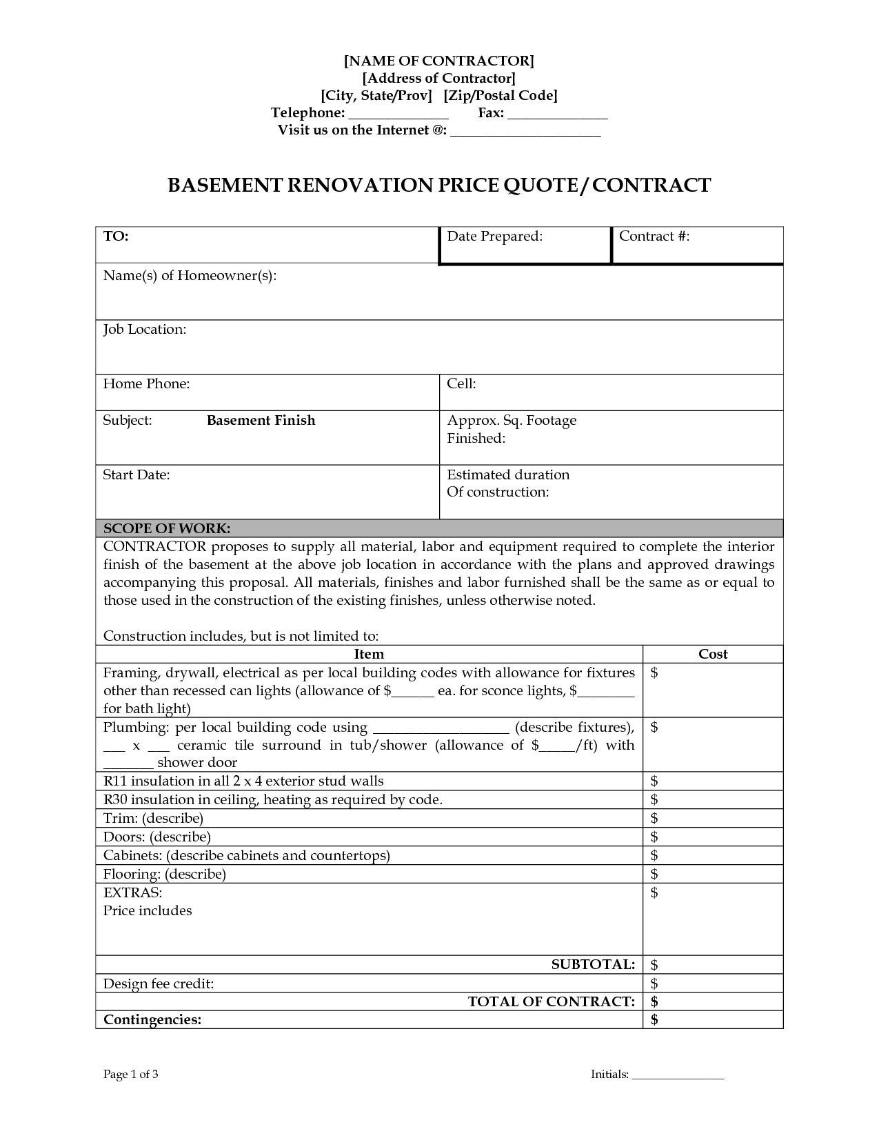 roofing contract template short form construction contract – Roofing Contract Form