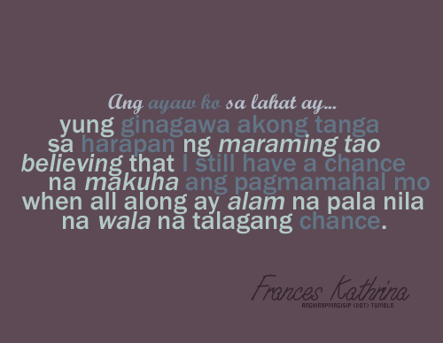 Quotes For Girls Tagalog Tagalog Break U...