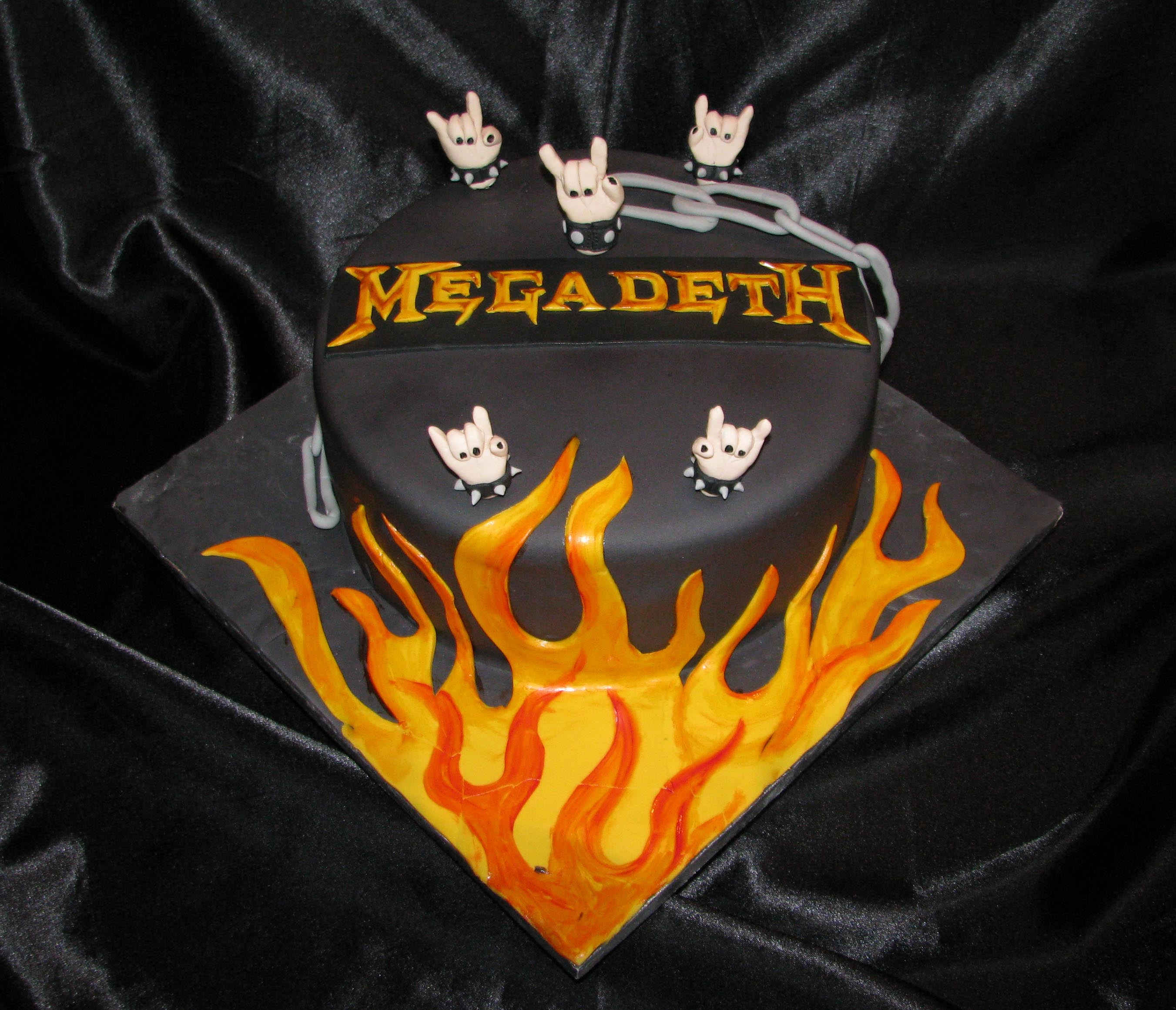 Megadeth Birthday Cake