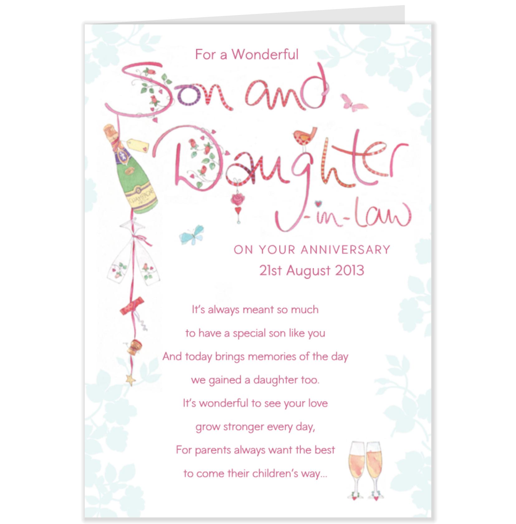 Anniversary Quotes For Daughter In Law Son. QuotesGram