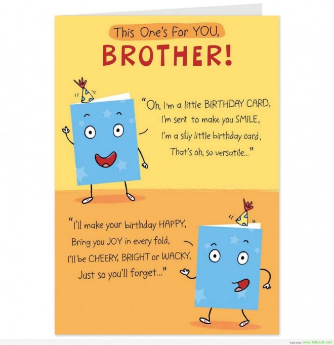 Terrific Happy Birthday Quotes Funny Big Brother Quotesgram Personalised Birthday Cards Paralily Jamesorg