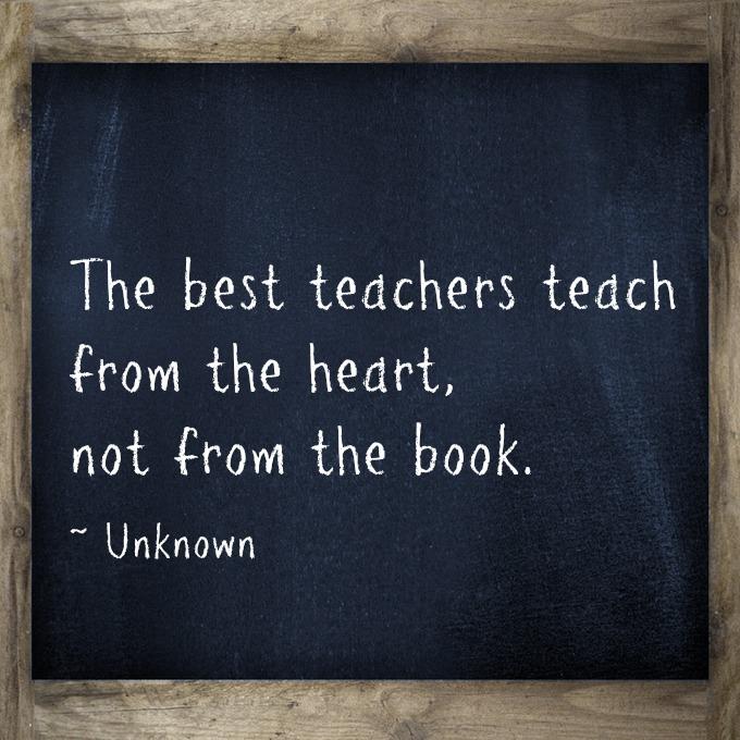 A Best Teacher Quotes: Teacher Quotes Heart. QuotesGram