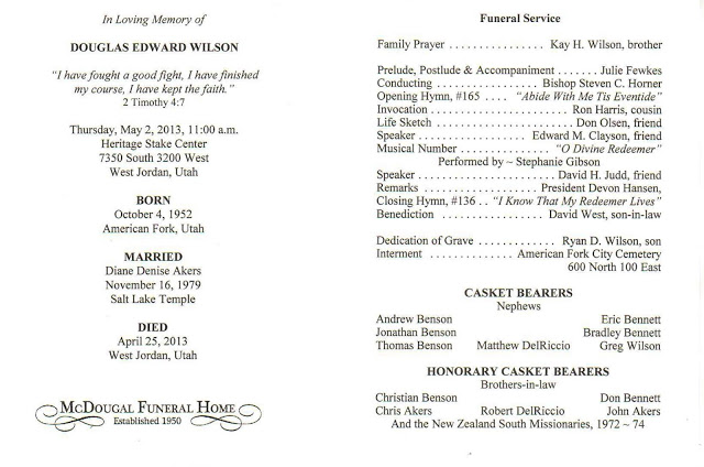 Catholic Funeral Program Template. catholic funeral programs ...