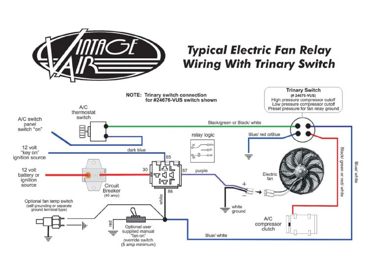 electric fan relay wiring diagram solidfonts electric fan thermostat wiring diagram digitalweb