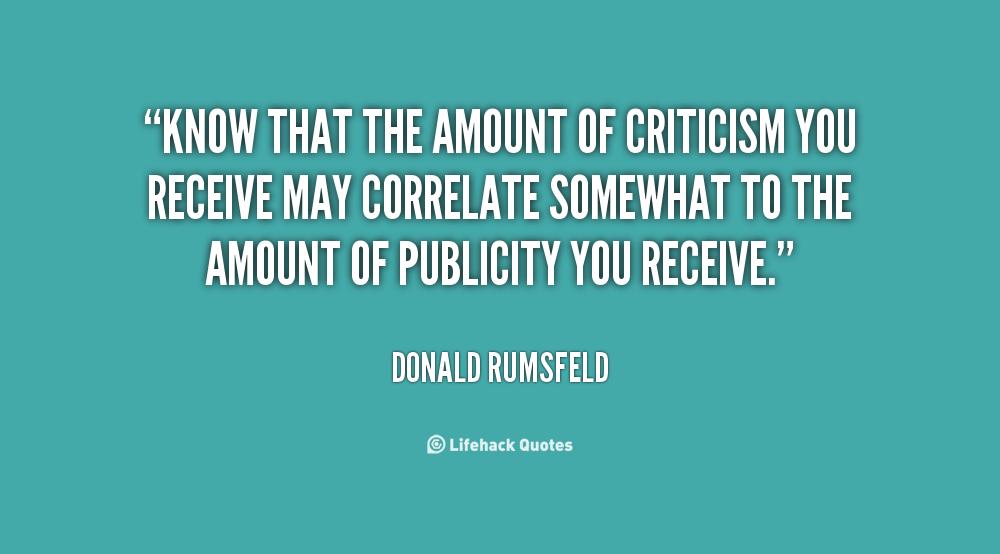 Criticism Quotes Quotesgram