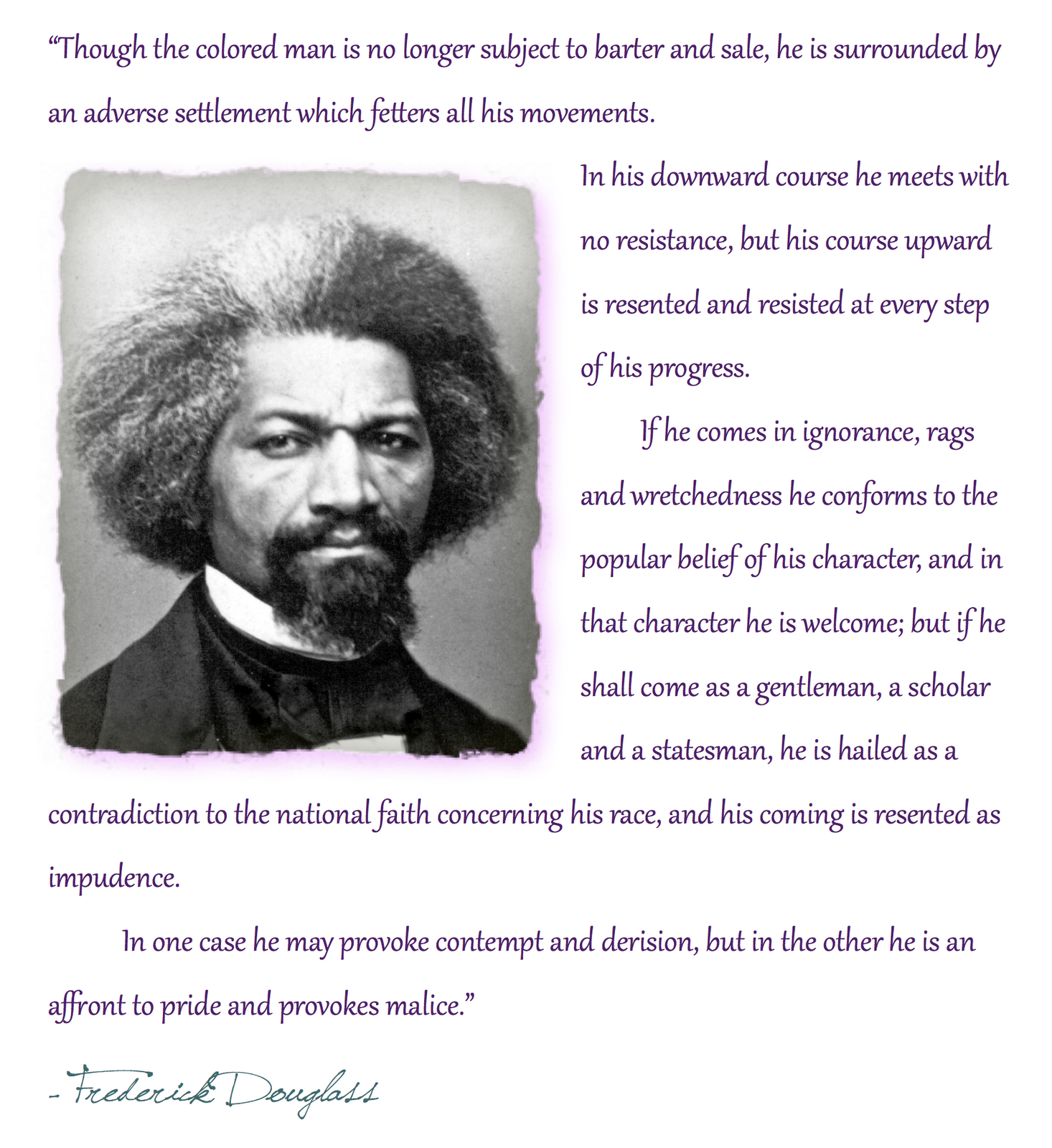 Education Is Liberation Quote: Frederick Douglass Quotes On Slavery. QuotesGram
