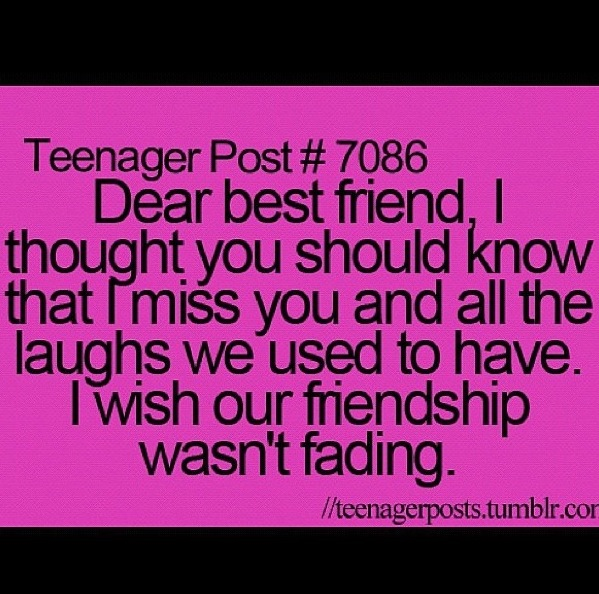 Sad I Miss You Quotes For Friends: Sad Ex Best Friend Quotes. QuotesGram
