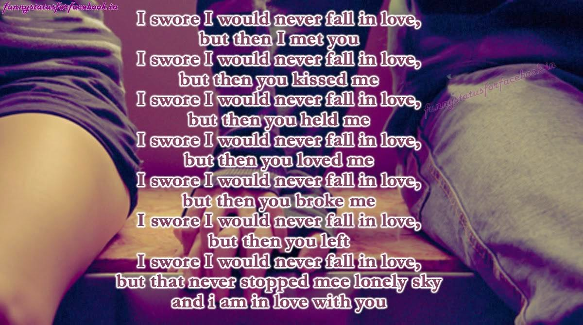 Love Quotes For Friends Falling In Love: Never Fall In Love Quotes. QuotesGram