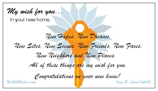 Congratulations On Your New Home Letter From Builder