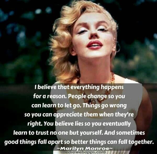 Marilyn Monroe Quotes Better Things Can Fall Together: Marilyn Monroe Quotes About Trust. QuotesGram