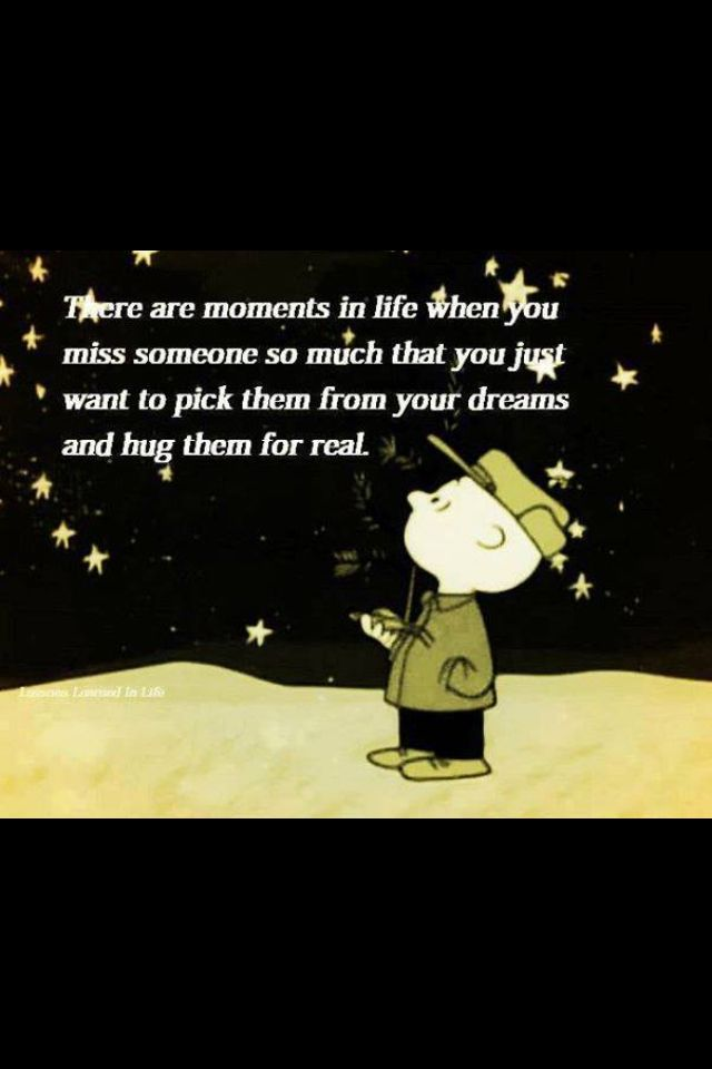 Missing Someone At Christmas Quotes: Snoopy Thinking Of You Quotes. QuotesGram