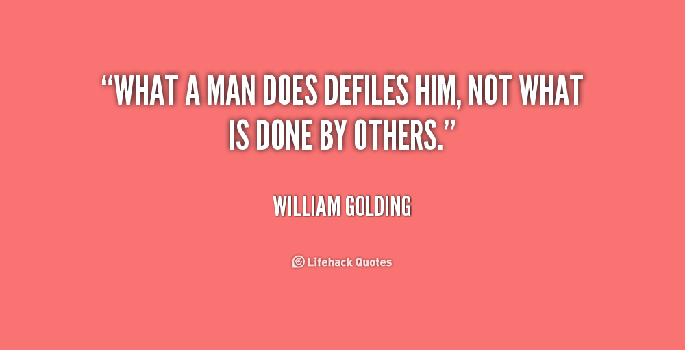 the evil residing in man in lord of the flies by william golding William golding's `lord of the flies' golding has founded lord of the flies on a number of more or if it is true that man is inherently prone to evil.