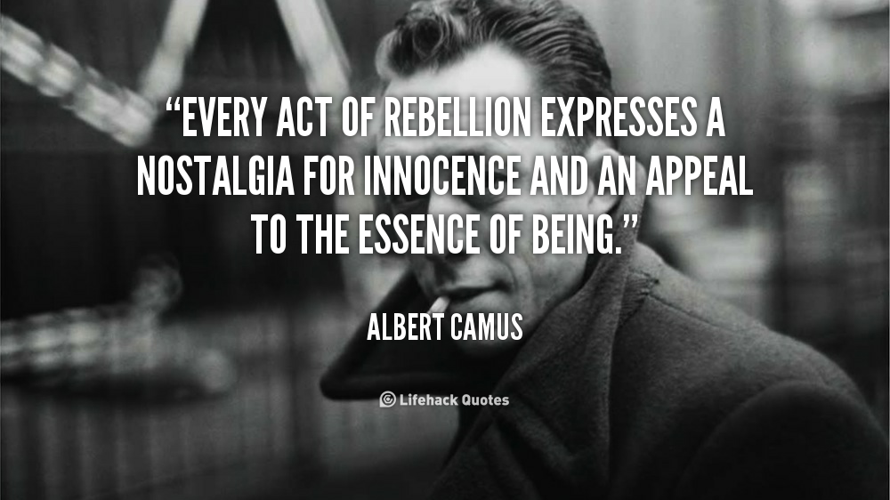 a rebellious act So adolescent rebellion is not simply a matter of parental aggravation it is also a matter of concern although the young person thinks rebellion is an act of independence, it actually never is it is really an act of dependency rebellion causes the young person to depend self-definition and personal conduct on doing the.