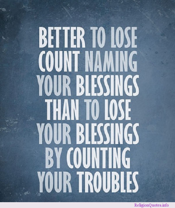 Inspirational Quotes About Positive: Blessings Quotes. QuotesGram