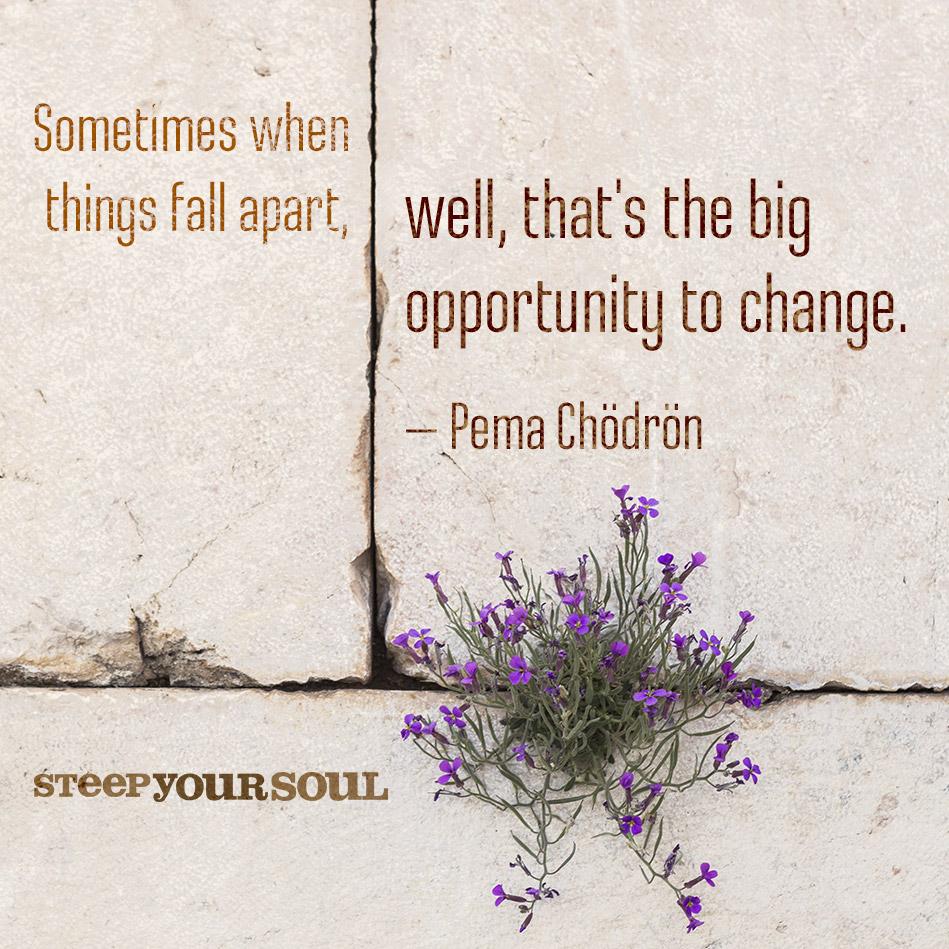 Things fall apart inevitable changes