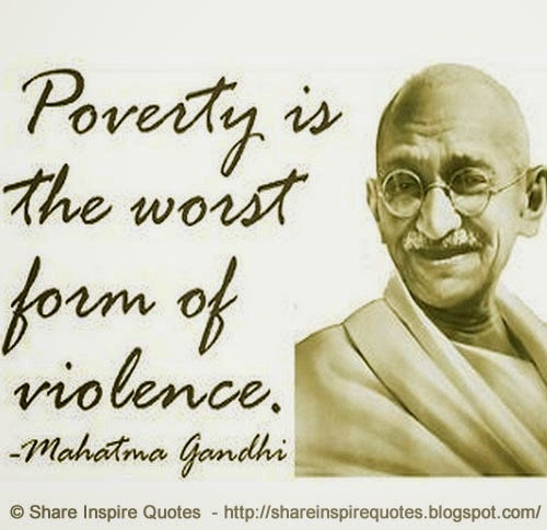 Poverty Quotes: Poverty Quotes By Gandhi. QuotesGram