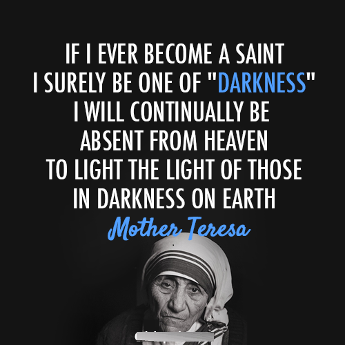Catholic Quotes Mother Teresa: Best Quotes Of Darkness. QuotesGram