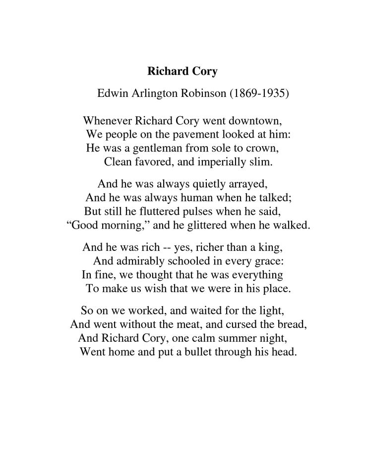 a biography of edwin arlington robinson a poet Richard cory by edwin arlington robinson home / poetry /  richard cory: know your poet quiz think you've got your head wrapped around richard cory.