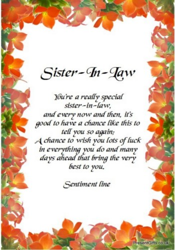 Groovy Brother And Sister N Law Quotes Quotesgram Personalised Birthday Cards Veneteletsinfo