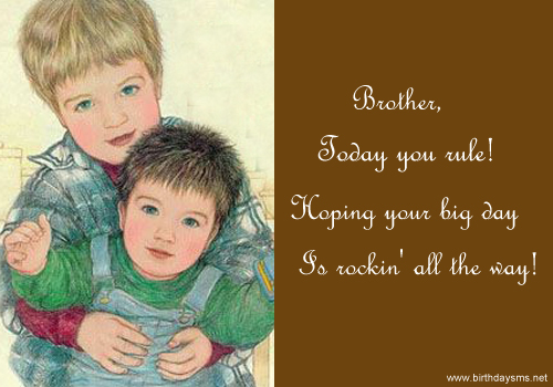 Little Brother Birthday Quotes. QuotesGram