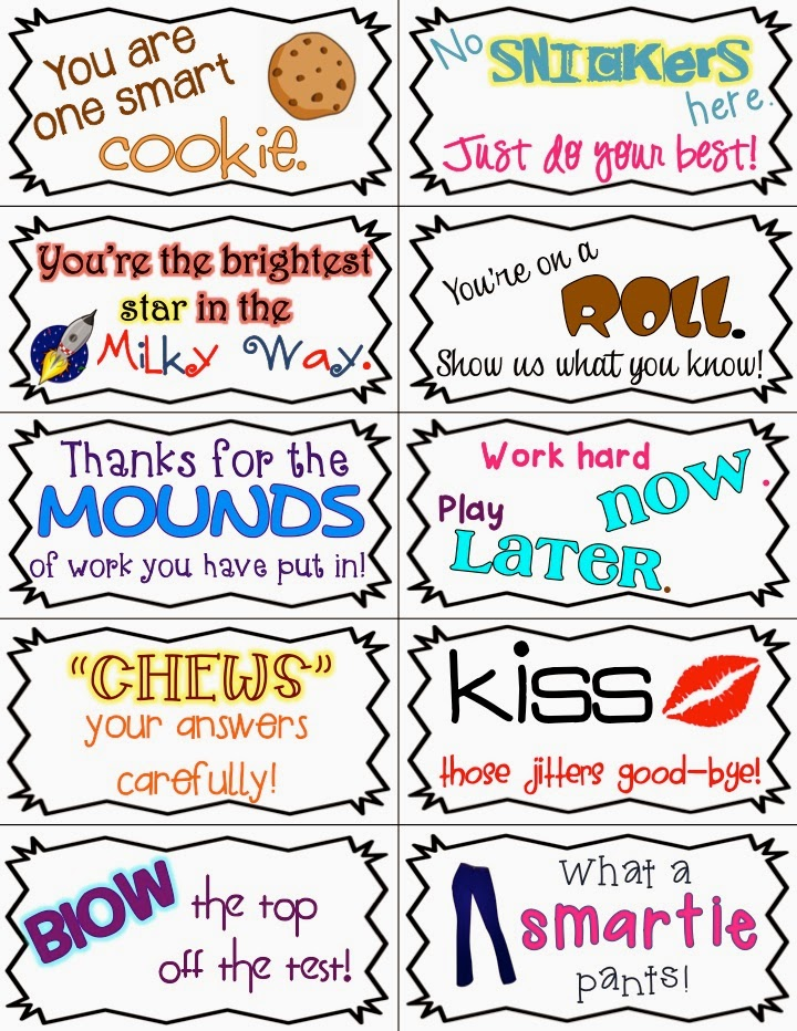 This is a photo of Remarkable Encouraging Notes for Students During Testing Printable