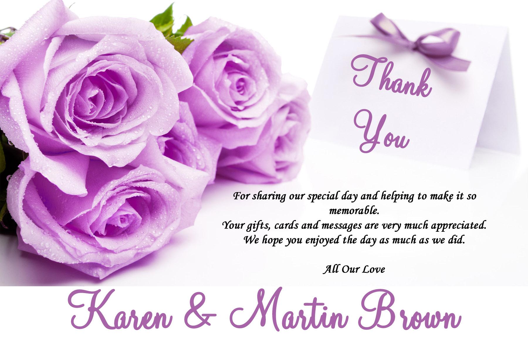 Wedding Invitation Thank You Card Wording Wedding Invitation Ideas – Thank You Card Template Word