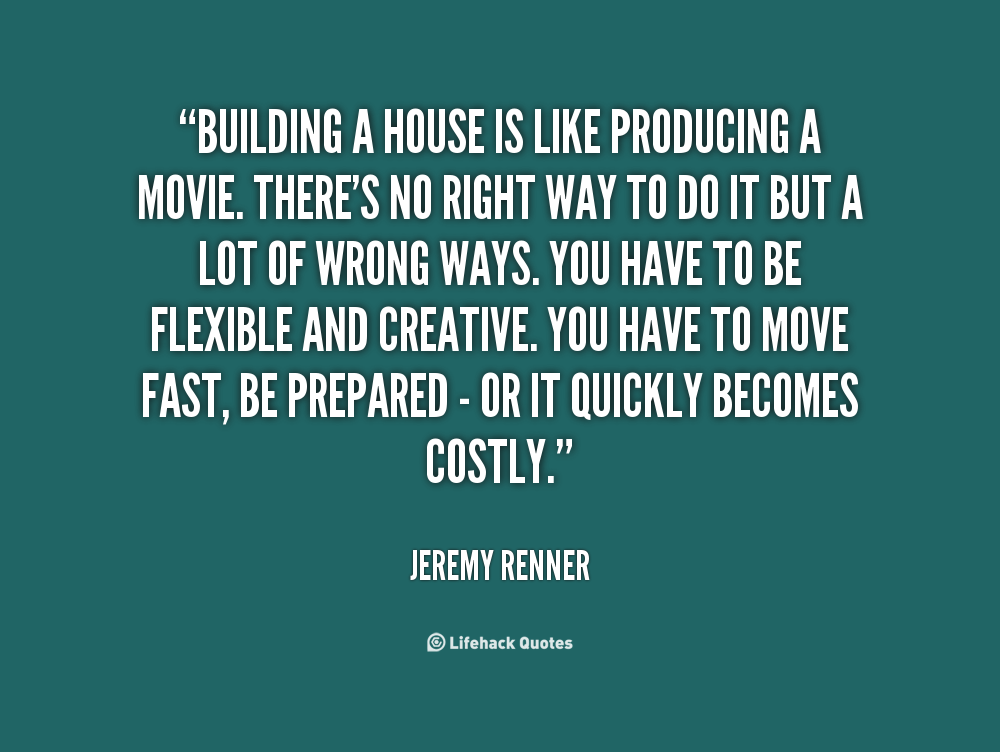 quotes about building a house quotesgram