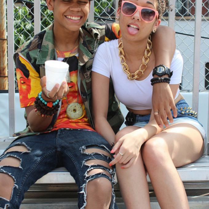 Black lesbian couples with swag